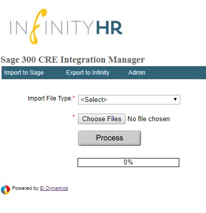 Infinity HR Connector Interface
